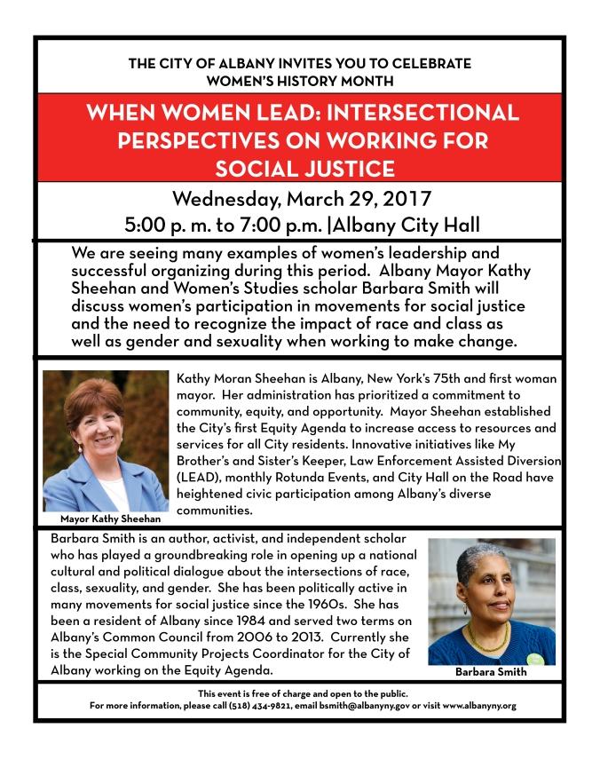 Women's History Month 2017 3-13-17